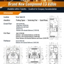 Brand New Compound 13 Villas with 5BHK